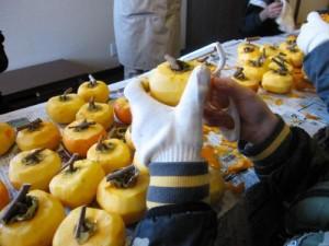『干し柿作り体験教室』レポート